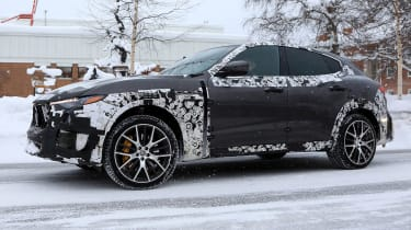 Maserati Levante GTS spy shot - front action