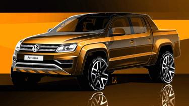Volkswagen Amarok sketch - front