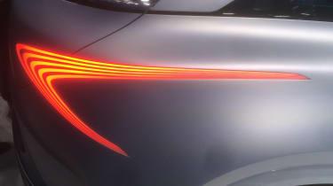 Hyundai FE Fuel Cell Concept show pics rear light