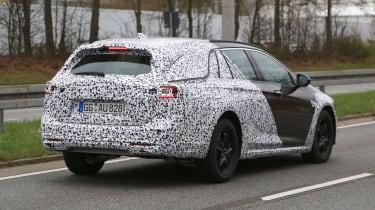 Vauxhall Insignia Country Tourer spy shot rear quarter