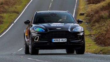 Aston Martin DBX prototype - full front action