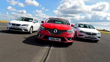 Renault Megane vs Vauxhall Astra vs SEAT Leon - header