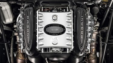 Pagani Huayra BC Roadster engine