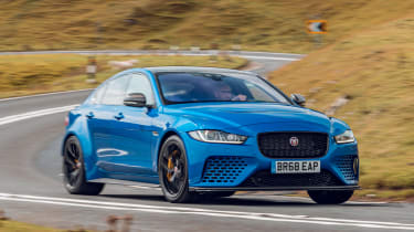 Jaguar XE Project 8 - front cornering