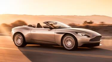 Aston Martin DB11 Volante - side action