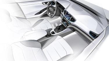 Hyundai Ioniq sketch int.
