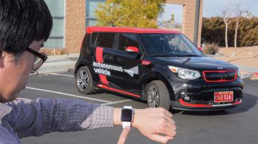 Kia soul EV autonomous parking