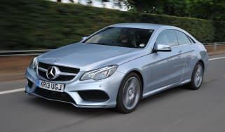 Mercedes E220 CDI Coupe action