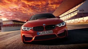 BMW 4 Series facelift 2017 - M4 tracking