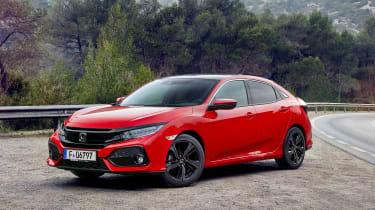 Honda Civic 2017 EU - red front quarter