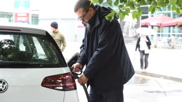 Long-term test - VW e-golf - plugged in