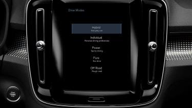 Volvo XC40 T5 plug-in hybrid - infotainment
