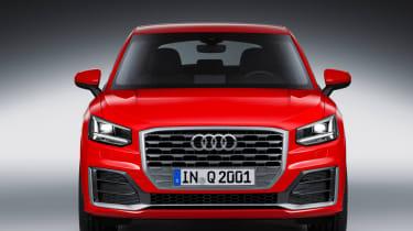 Audi Q2 Red front dead
