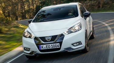 Nissan Micra N-Sport - front tracking