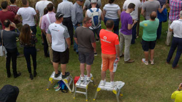 It can be hard to see over the barriers at Goodwood, so it helps to come prepared...
