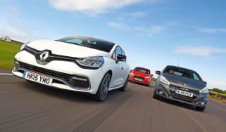Renault Clio RS 220 Trophy vs Peugeot 208 GTi and Ford Fiesta ST