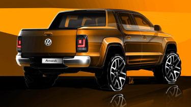Volkswagen Amarok sketch - rear