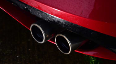 Jaguar F-Type R - exhaust detail