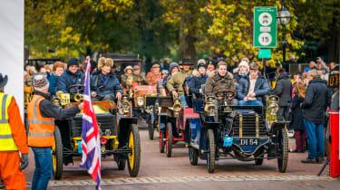 London to Brighton Veteran Car Run  -  start
