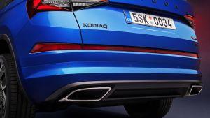 Skoda Kodiaq vRS facelift - rear detail