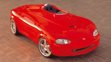 The MX-5 Mono-Posto concept made its debut at the SEMA aftermarket tuning show in Las Vegas in 2000. With a single seat and a custom 187bhp turbocharged engine built by tuning specialists HKS, it was seen as the ultimate expression of
