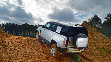 Land Rover Defender off road rear