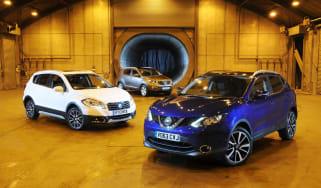 Nissan Qashqai vs Suzuki SX4 S-Cross vs Kia Sportage