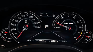 BMW X4 M Competition - dials