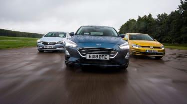 Ford Focus vs Vauxhall Astra vs Volkswagen Golf