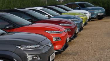 Hyundai Kona electric rally header