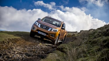 Nissan Navara first UK drive - front off road