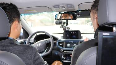 Hyundai Ioniq autonomous - Graham Hope inside