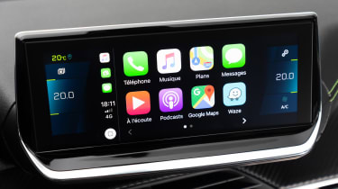 Peugeot e-208 - Apple CarPlay
