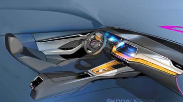 Skoda Octavia - interior sketch