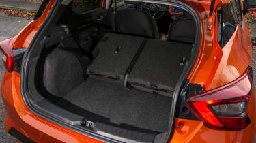 New Nissan Micra - boot with seats down