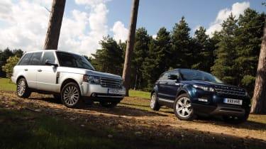 Range Rover Evoque and Range Rover