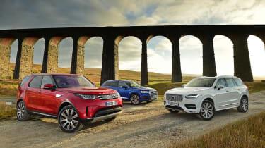 Land Rover Discovery vs Audi Q7 vs Volvo XC90 - head-to-head