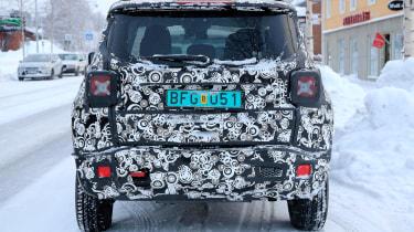 Jeep Renegade spy shot rear