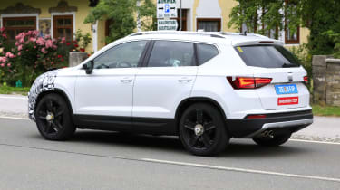 SEAT Ateca spied - rear 3/4 tracking