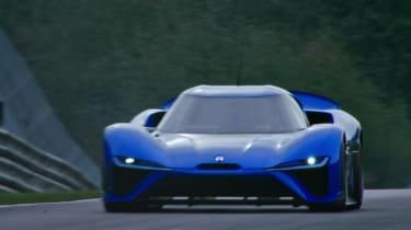 NextEV NIO EP9 electric hypercar - full front Nurburgring