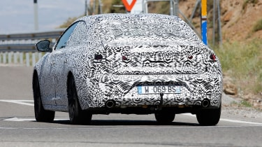Peugeot 508 spy shot rear