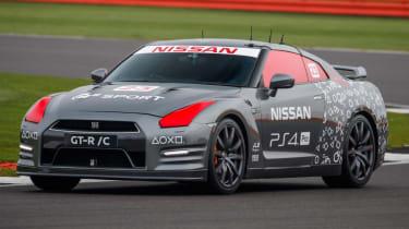Remote control Nissan GTR/C - front corner cornering