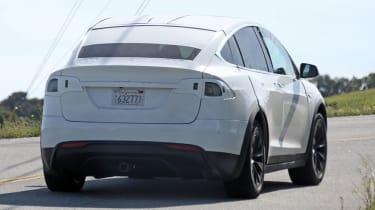 Tesla Model X spyshots rear