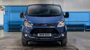 Ford Transit Custom - full front static blue