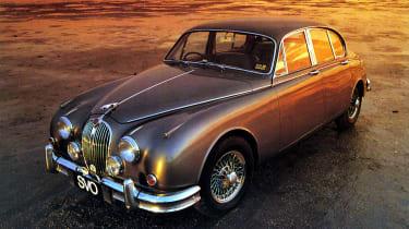 Jaguar MK2 in sunset