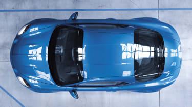 Alpine A110 sports car 2017 - studio overhead