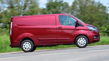 Ford Transit Custom PHEV long-termer second report - side