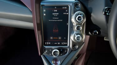 McLaren 720S - infotainment screen