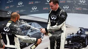 Infiniti Ultimate test drive Carl podium