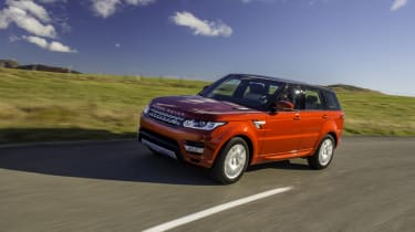 Range Rover Sport SDV8 front action